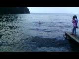 купание в Байкале , температура воды + 5 VID_20130817_045935